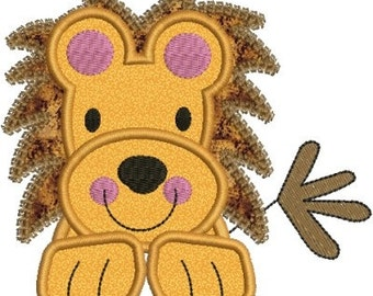 Zoo Baby Lion Applique Machine Embroidery Designs 4x4 & 5x7 Instant Download Sale