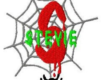 Halloween Spider Machine Embroidery Monogram Fonts Designs Instant Download Sale