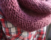 Fig Hooded Cowl / Circle Scarf / Infinity Scarf