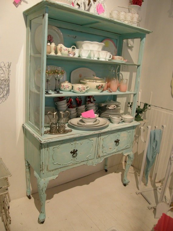 Items similar to hot coastal cottage distressed blue - Decoracion vintage chic ...