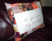 Clearance! Wizard of Oz Patchwork accent Pillow -I'll get you, My Pretty!