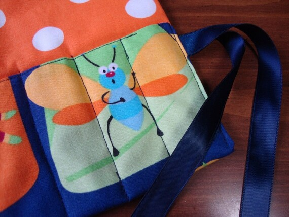 Crayon Carrier Roll Up- cute as a bugs ear
