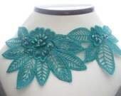 SALE LAST AVAILABLE - Blue Peacock Lace Necklace