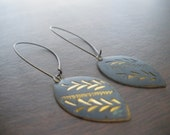 India Patina Brass Drop Earrings