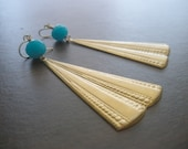 Blue Flapper Earrings