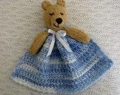 Baby Buddy Bear Blankie, blue.