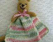 Pink Buddy Bear Blankie