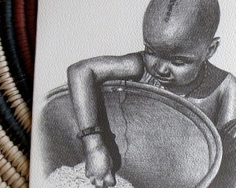 African Child card