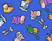 Tossed Characters in Blue, Busytown A to Z