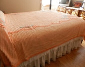Gorgeous Creamsicle Chenille Bedspread