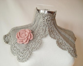 SPECIAL SALE Grace Kelly Smoky Grey Capelet - Any season - Express Delivery