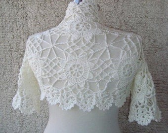 EXPRESS DELIVERY - La Isla Bonita Ivory Lace Shrug - Express Delivery