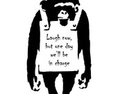 Banksy Inspired - Monkey - Vinyl Wall Decal