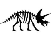 Triceratops Dinosaur Fossil - Vinyl Wall Decal