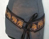 Black Elephant Belt- Silk with Indian Ribbon from The Silk Road Collection