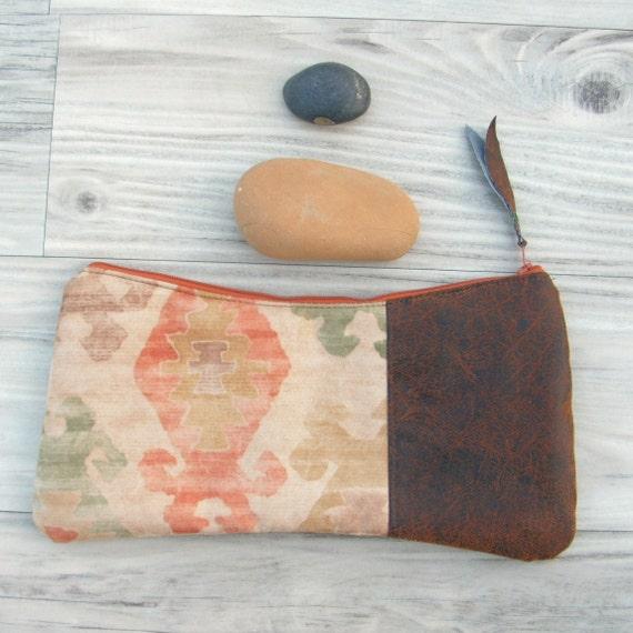 SqueezE Clutch Handbag, Navajo Clutch, Native Bag,  Vegan Leather Bag, One of a Kind Bag