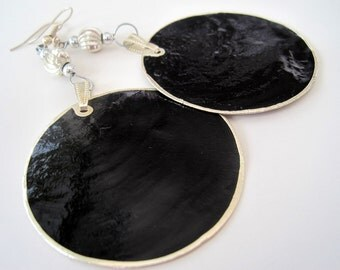 Black Shell Go-Go Earrings - SALE