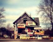 taxi house. 12x12 photograph. heidelberg project. detroit.