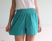 20% off Black Friday X Front Teal Vintage 80s Cotton High Waist Summer Shorts XS/S