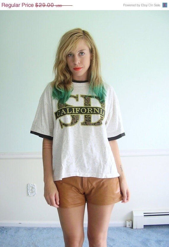 20% off Cyber Monday I'd Rather Be... in San Diego Vintage Early 90s Slouchy California Pride Tee Shirt OSFM