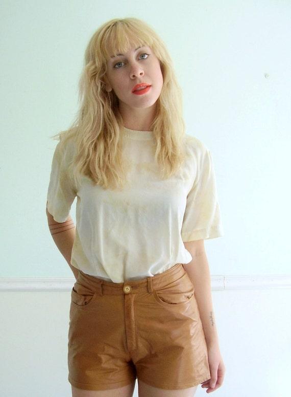 Tie Dyed Vanilla Silk Blouse Vintage 90s SMALL MEDIUM S M