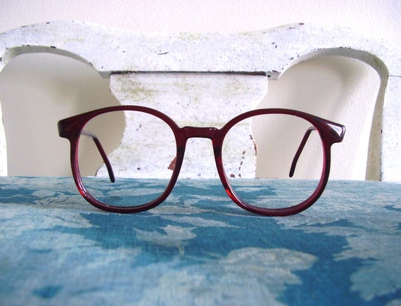 Vintage 70s 80s Pathway Opticolors 140 Wine Red Lenseless Glasses Frames