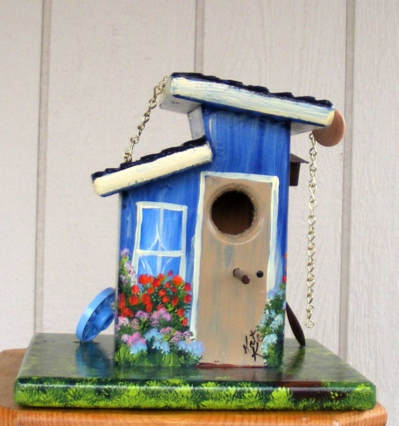Blue Bird House, Handcrafted