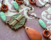 Czechered Past Necklace European Antique Market Pretty in Prague