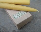 Beeswax Taper Candles, 6 inch - Box of Six