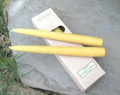 Beeswax Taper Candles, 8 inch.  TWO Boxes of Six Candles (12 candles)