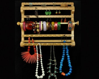 Hanging Combo Earring Necklace Bracelet Storage Holder Display