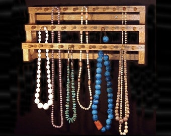 18 Inch Large Necklace Holder W/1 Inch Pegs Jewelry storage Jewelry Display Jewelry Holder