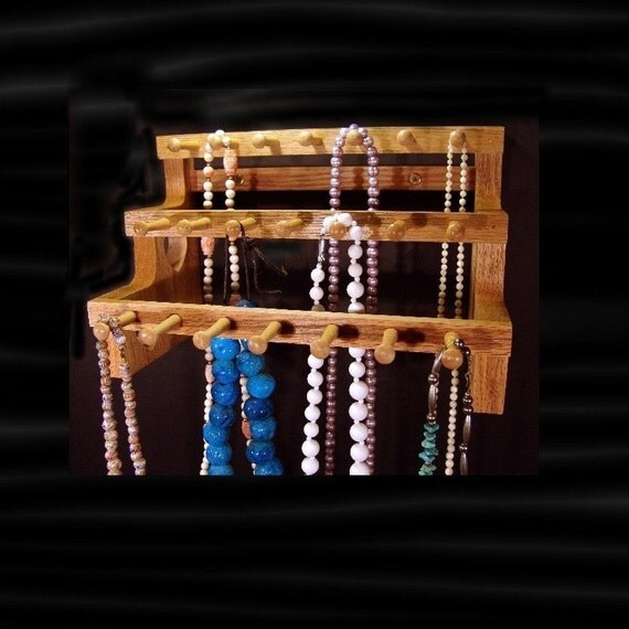 12 Inch Hanging Necklace Holder W/2 Inch Pegs