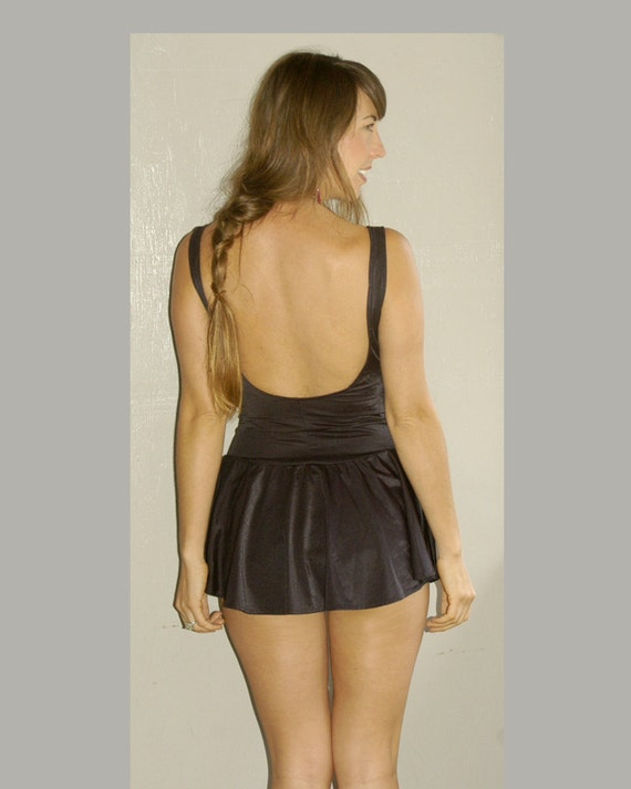 vintage backless swimsuit (m)