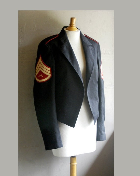 vintage 50s military jacket authentic (xl)
