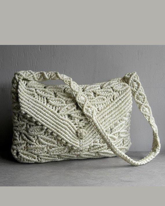 Vintage Woven Macrame Lace Purse By Firegypsyvintage On Etsy