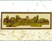 Judaic Greeting Card - Stained Glass Series - Jerusalem