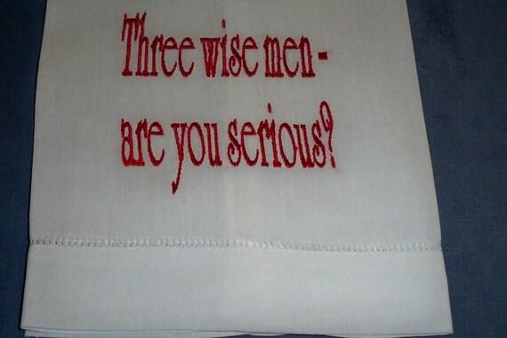 Christmas Hand Towel--Three Wise Men
