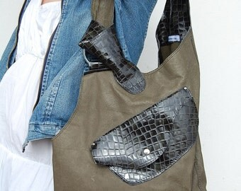 Alenka leather. Shopping bag very special. Leather handmade