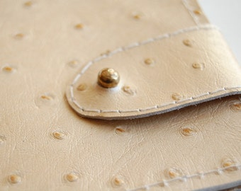 Martini leather wallet. Handmade