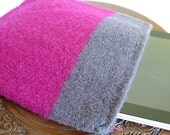 Cashmere Felted iPad Sleeve with Zipper and Two Large Pockets