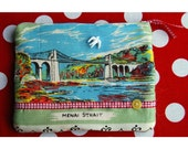 Seaside postcard purse