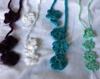 BUY 3 Get 1 Free - Crochet Flower Necklette