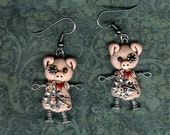 Reserved for minou231   Steampunk Pig Robot Jewelry Necklace