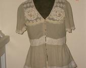 Girlie Girl Blouse - Reserved for Seranata