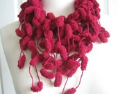 New  scarf, hand made, burgundy, Turkishteam