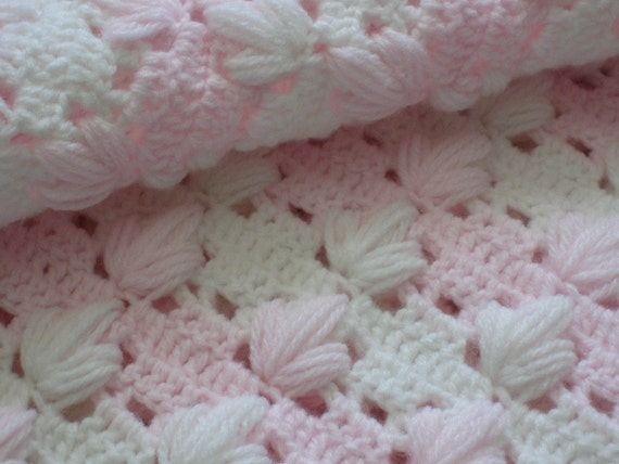 Precious Baby Girl Blanket, New, Hand Crocheted