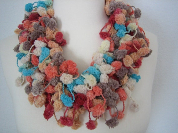 Holiday Accessories, New  Soft hand crocheted Fall colors scarf,  Turkishteam