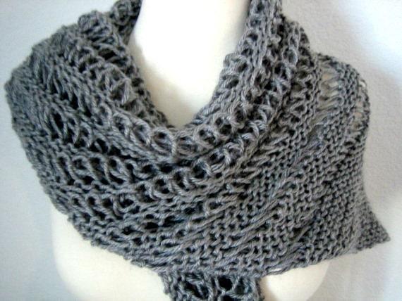 Knit cowl, scarf, even shawl, triangle,original design, OOAK, winter fashion