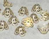 Choose How Many, 100 or 200 Pieces, Gold Color, Raw Brass Bead Caps 8.5mm
